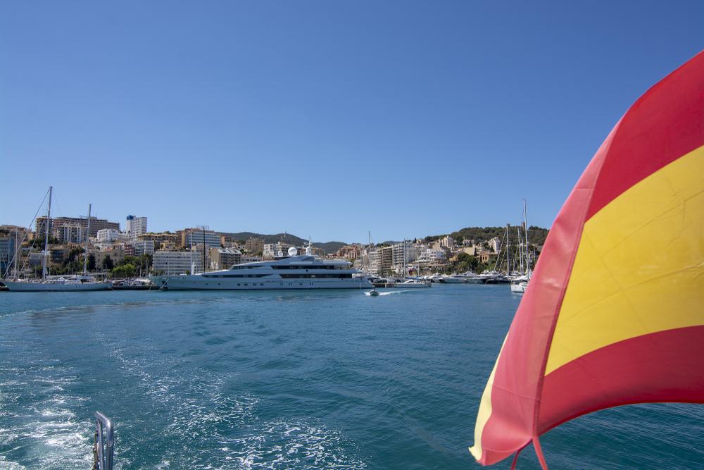 bandera españa barco