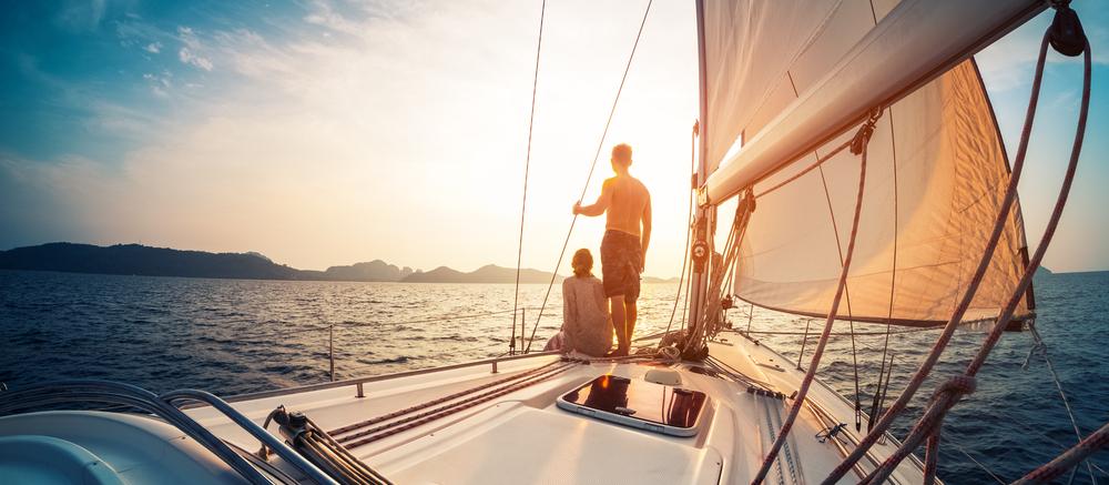 navegar puesta de sol