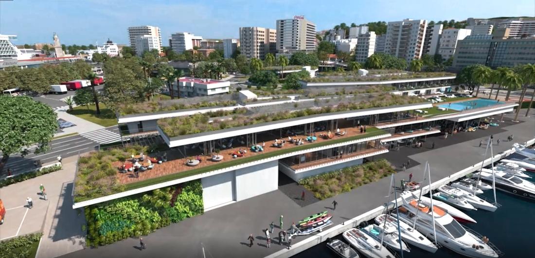 Edificios principales vista aerea
